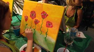 Me painting Red Poppies