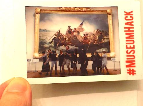 Our crew recreating Washington Crossing the Delaware