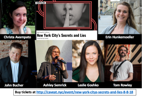 http://caveat.nyc/event/new-york-citys-secrets-and-lies-8-8-18/