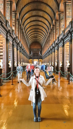 Me in the Long Room of Trinity Library, Dublin